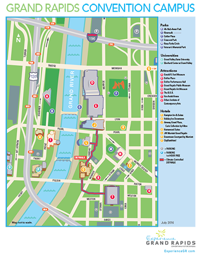 大急流城会议中心校园地图