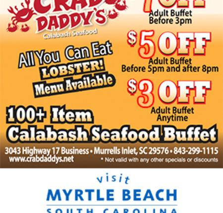 Crab Daddy's Calabash Seafood - $3, $5 or $7 Off