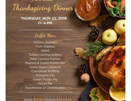 Bay Watch Resort Annual Thanksgiving Dinner