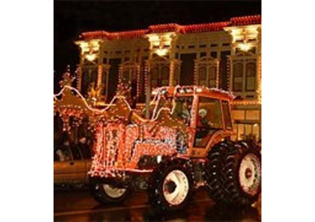 lighted tractor