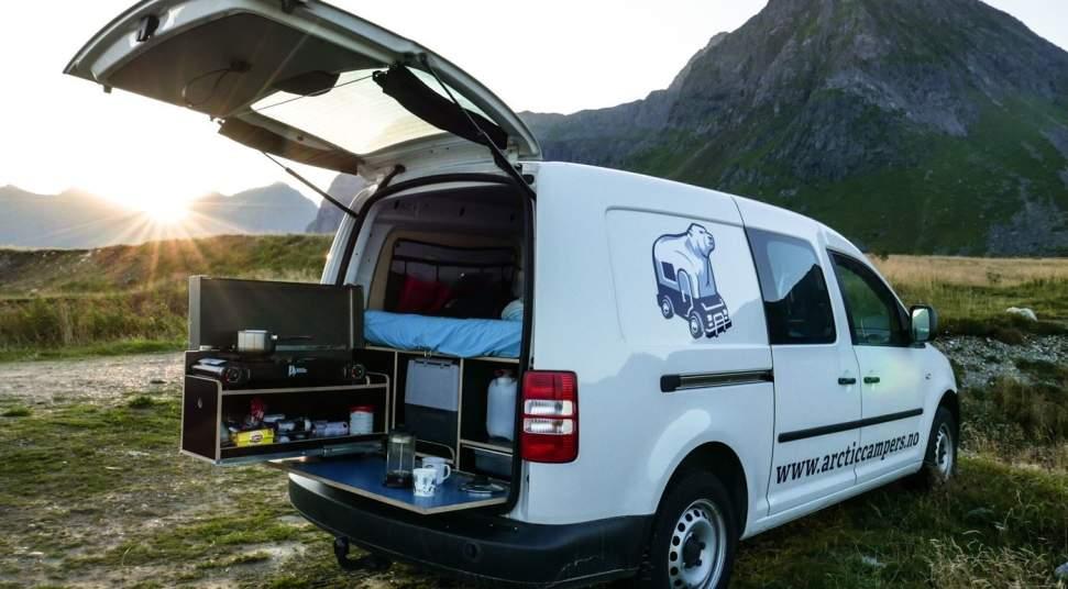 arctic campers camper van rental