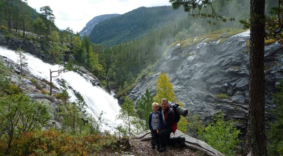 Wanderung Zum Rjukanfossen Wasserfall