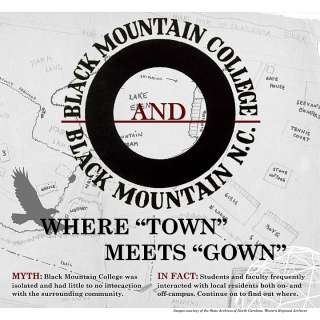 """Black Mountain College and Black Mountain, NC: Where """"Town"""" Meets """"Gown"""" Exhibit"""