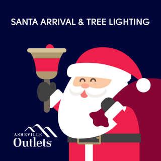 Santa's Arrival at Asheville Outlets!