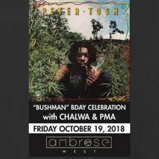 Peter Tosh Birthday Celebration w/ Chalwa & PMA - [reggae]