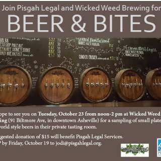 Beer and Bites at Wicked Weed to Benefit Pisgah Legal Services