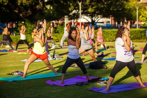 Fitness in the Park: Core-Focused Yoga at Discovery Green