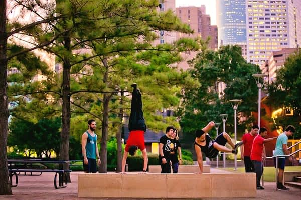 Fitness in the Park: Parkour at Discovery Green