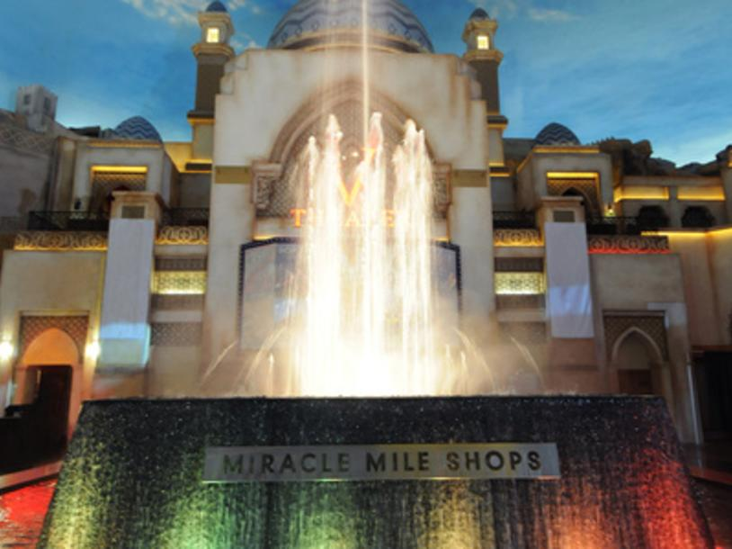 Rainstorm & Fountain at Miracle Mile Shops
