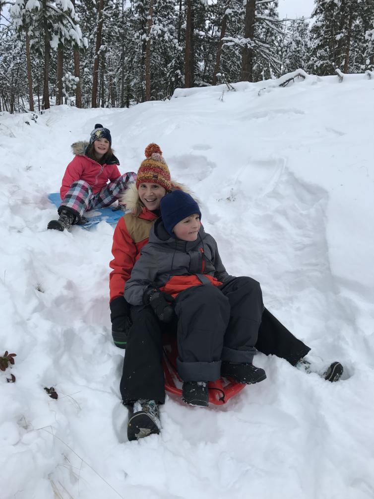 Sledding with Kids