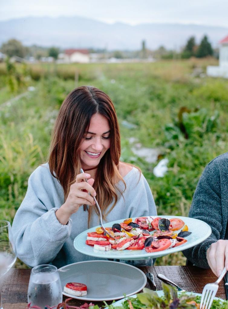 Caprese Salad in the Garden