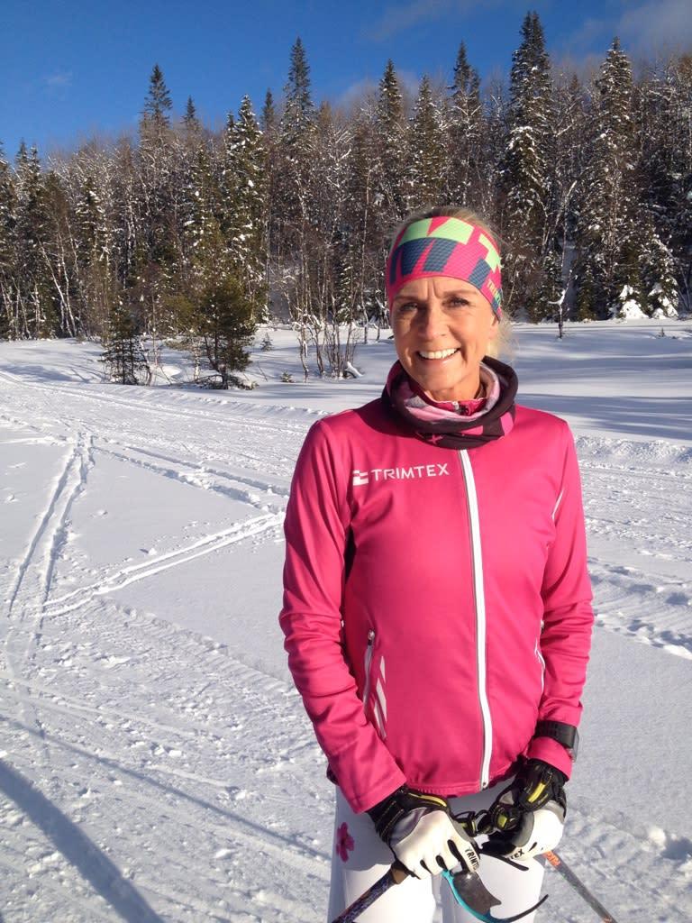 Solveig Pedersen skiing