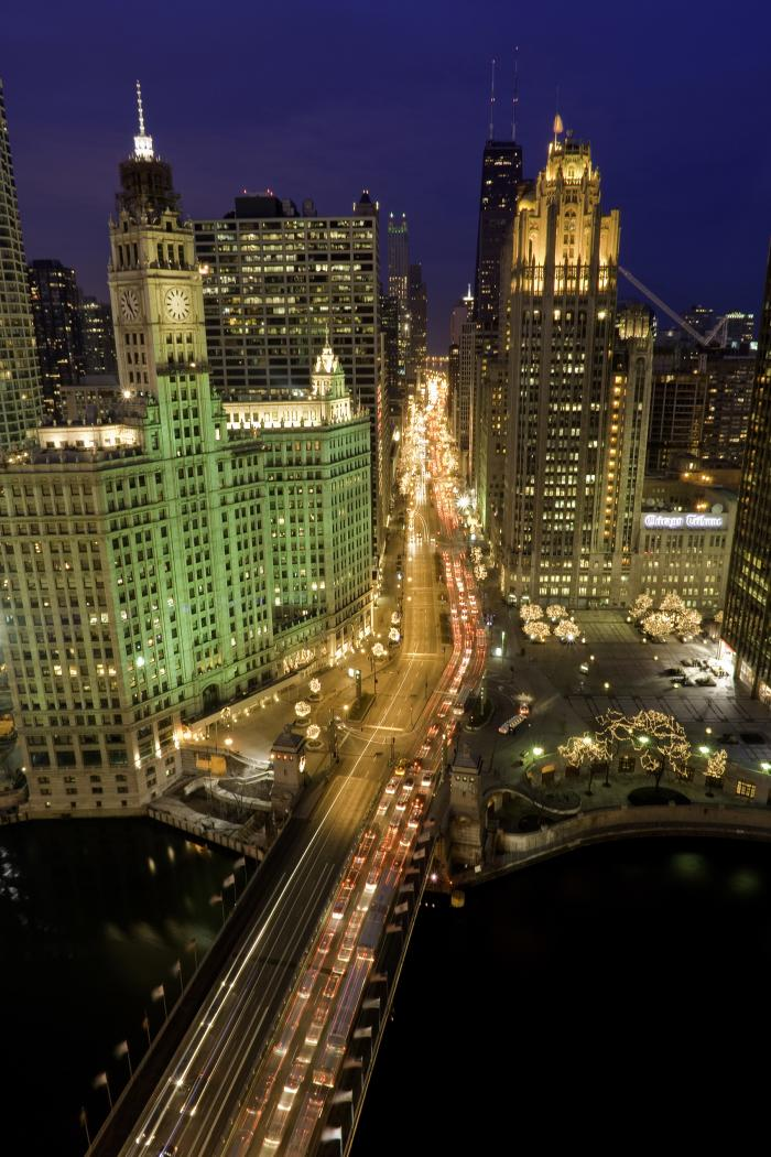 Magnificent Mile Aerial View