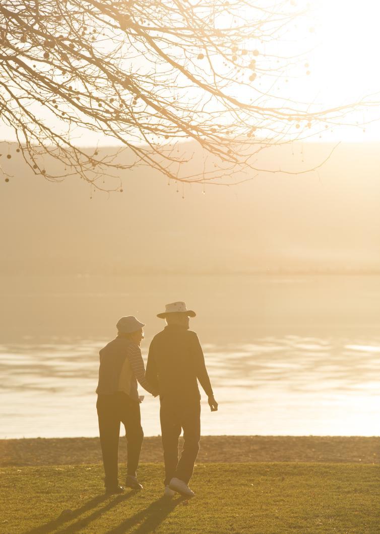 Old Couple Sarson's Beach Sunset