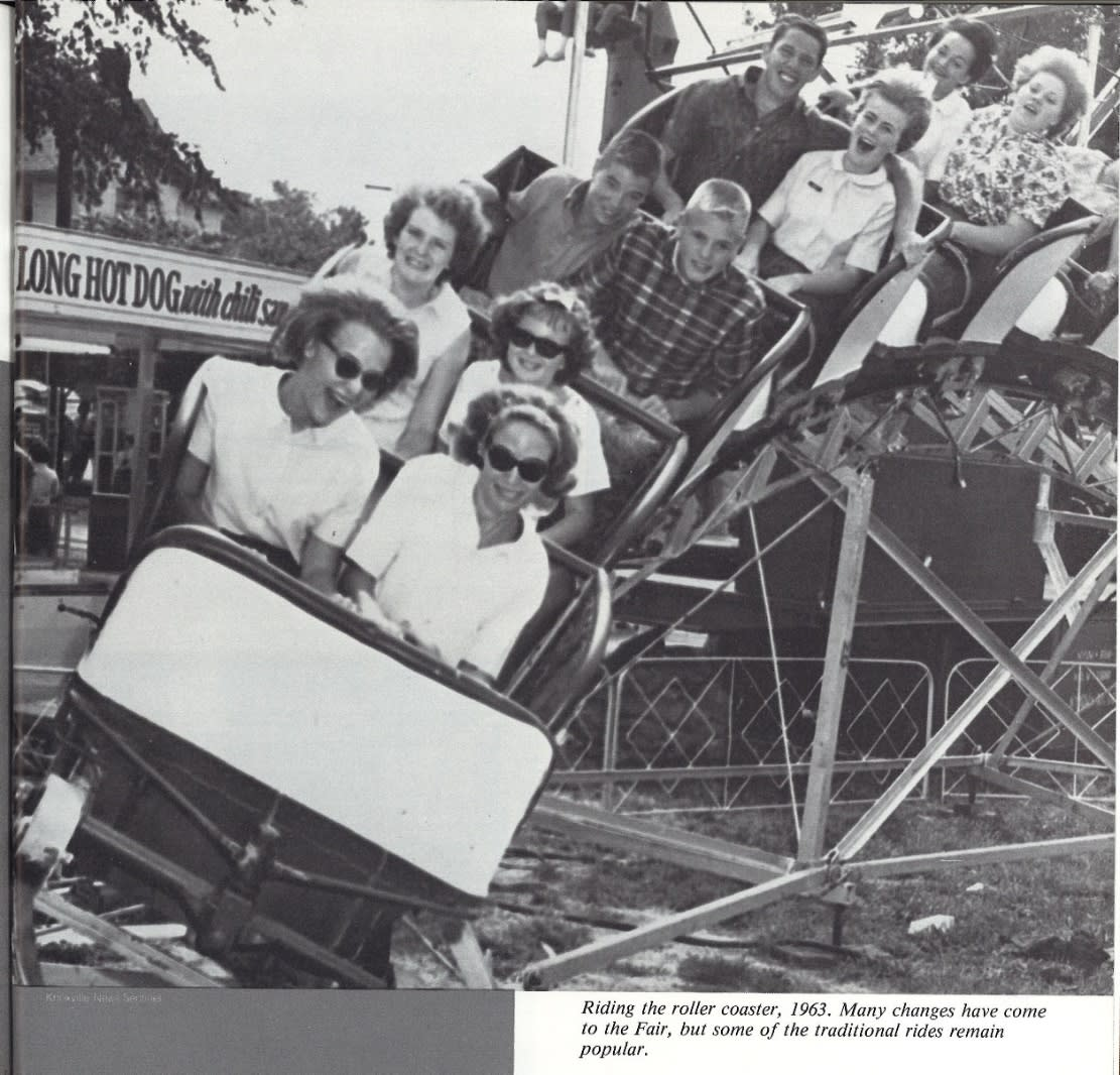 Rollercoaster Ride at Tennessee Valley Fair in 1963