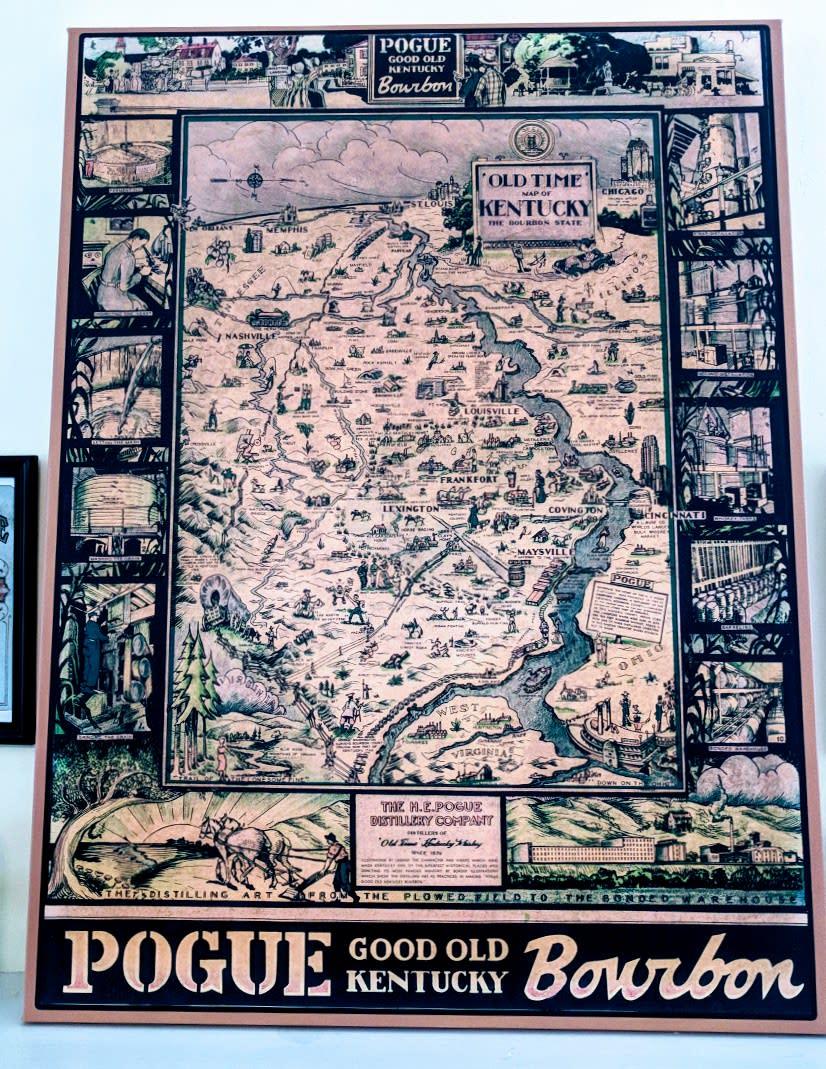 Pogue bourbon map
