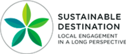 Sustainable destinations logo, English version