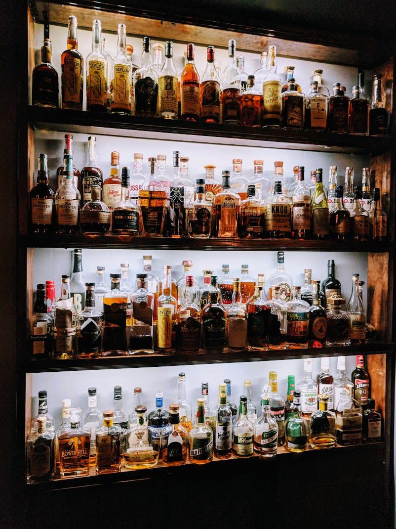 Bourbon Haus wall of bourbon
