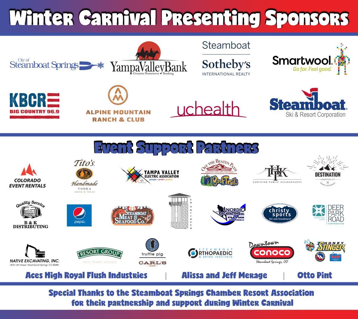 Winter Carnival Sponsors 2019