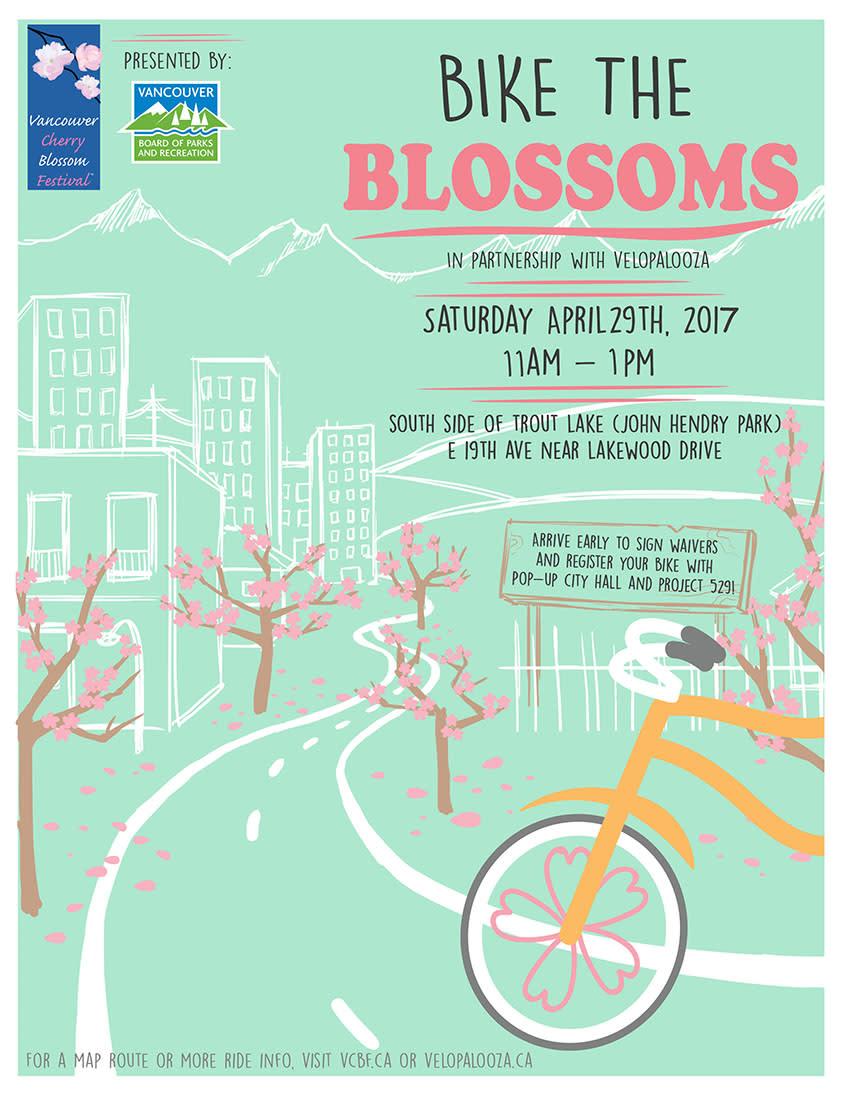 Vancouver Cherry Blosso Festival Poster 2017
