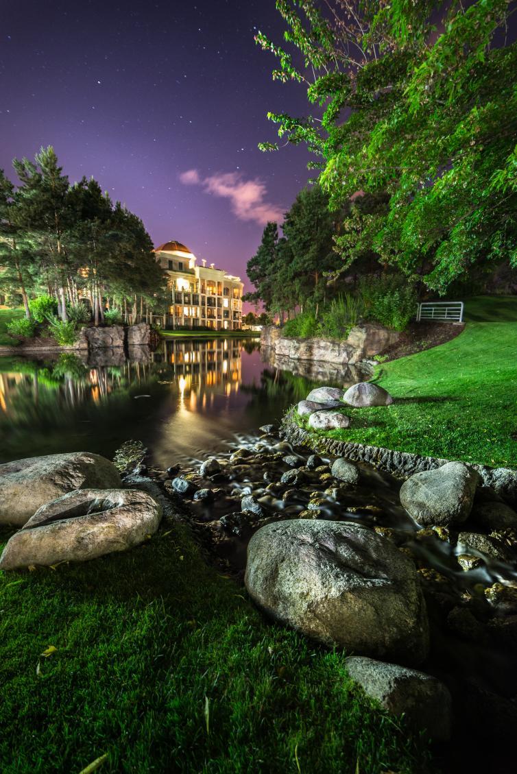 The Delta Gran Hotel at Night