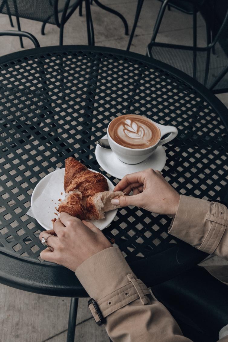 Waterfron Cafe Croissant & Latte