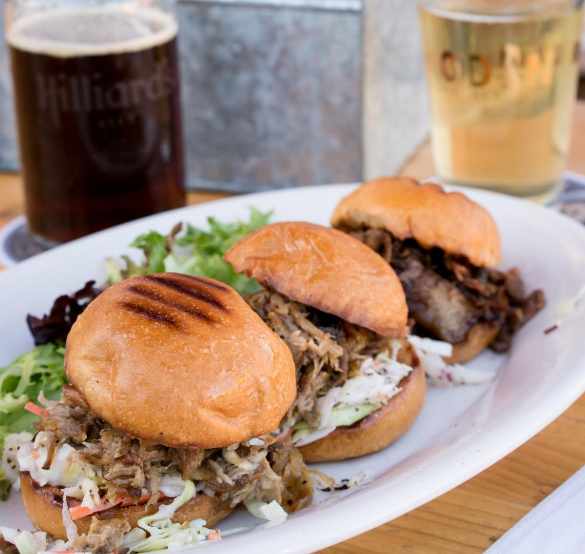 Cropped Odin Brewing Company burgers
