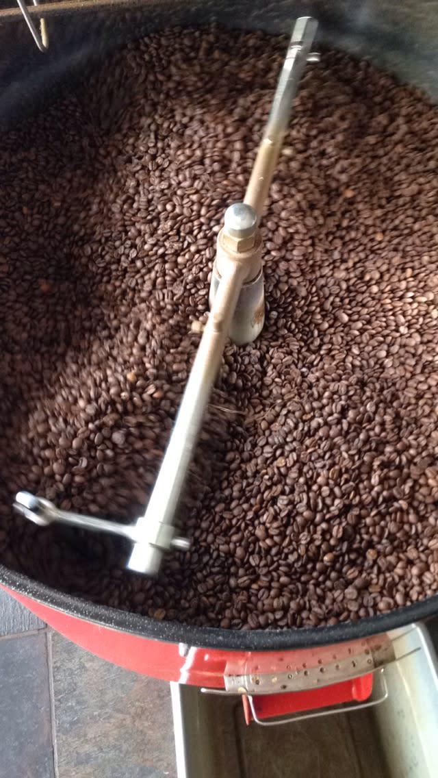 Roasting at Blackbird Coffee