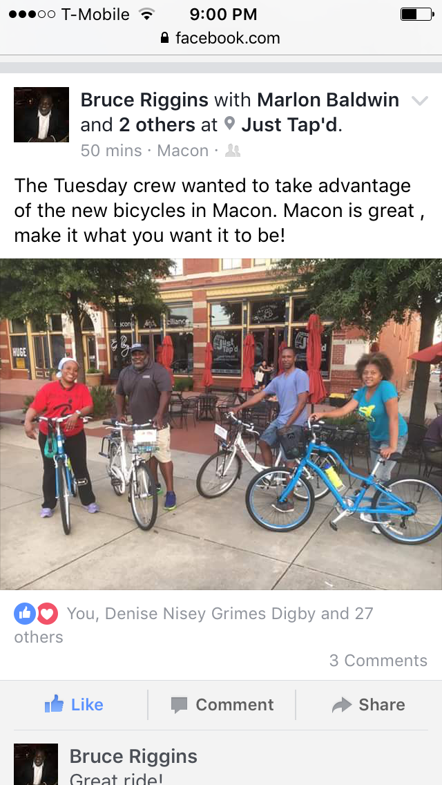 Social Media Post About Bike Share