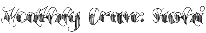 Monthly Crave Sushi Logo
