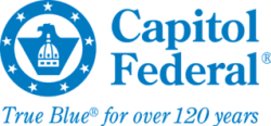 """Capitol Federal logo """"True Blue for over 120 years"""""""