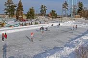 Public ice skating venue in Minocqua, WI