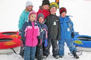 Kids snow tubing in Minocqua, WI