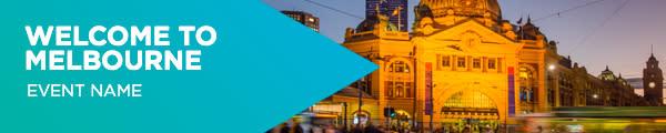 Header Banner Blue - Welcome to Melbourne