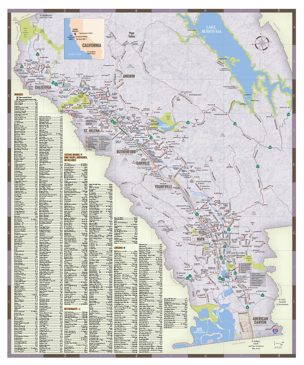NapaValley Regional Map 2018