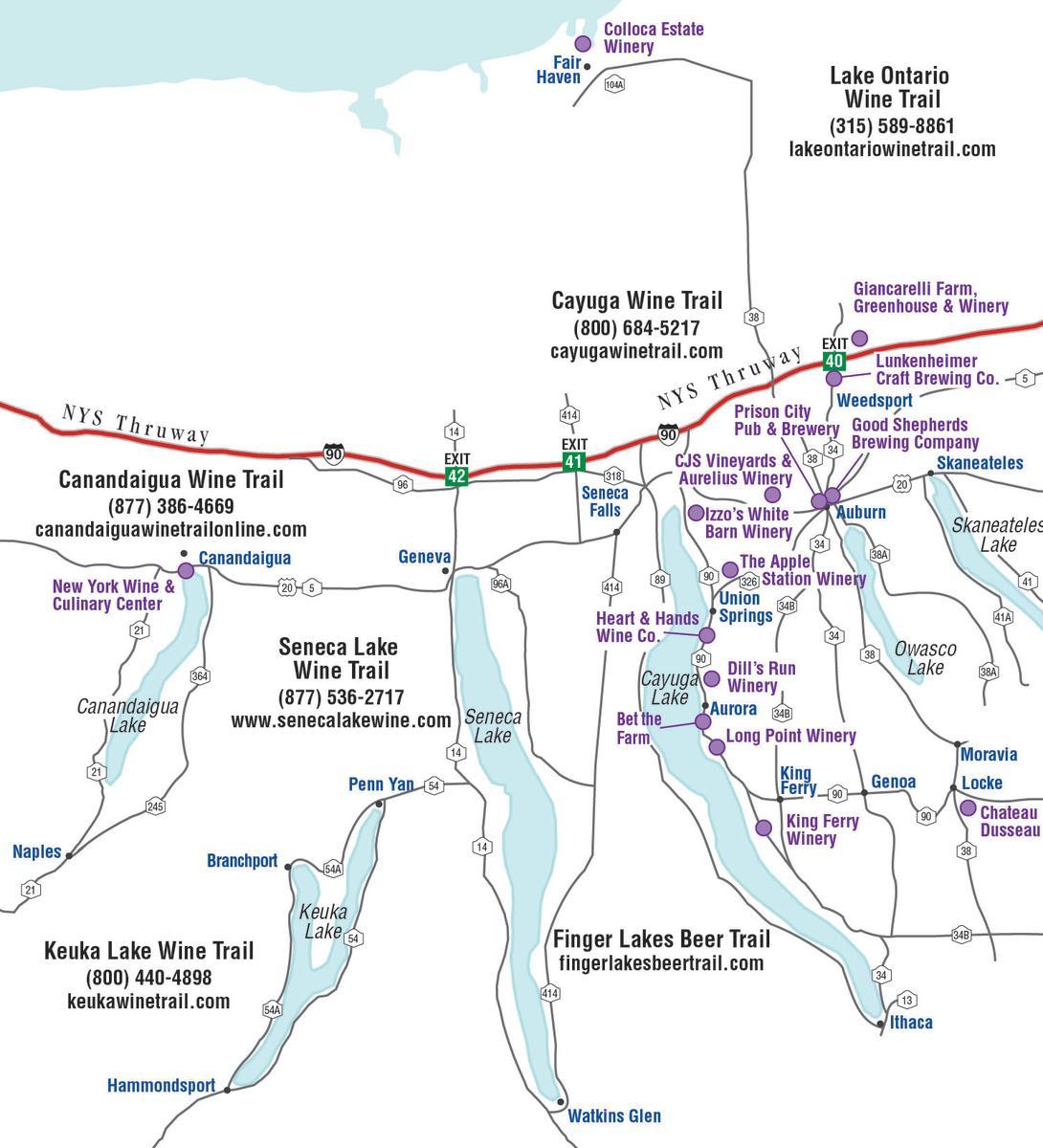 Wine tour map