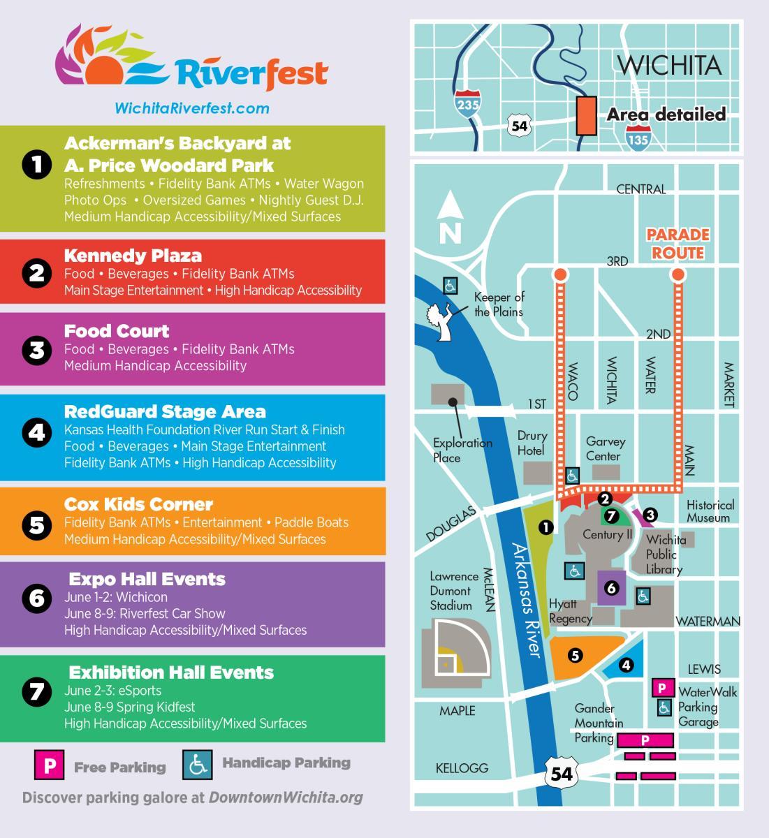 Riverfest Map 2018