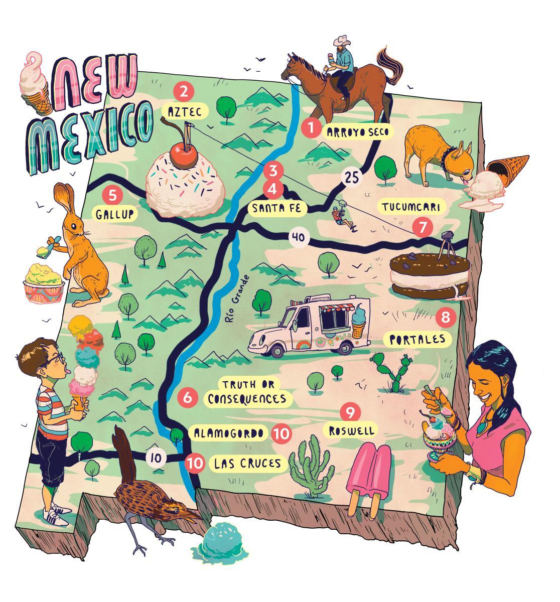 Ice Cream Map