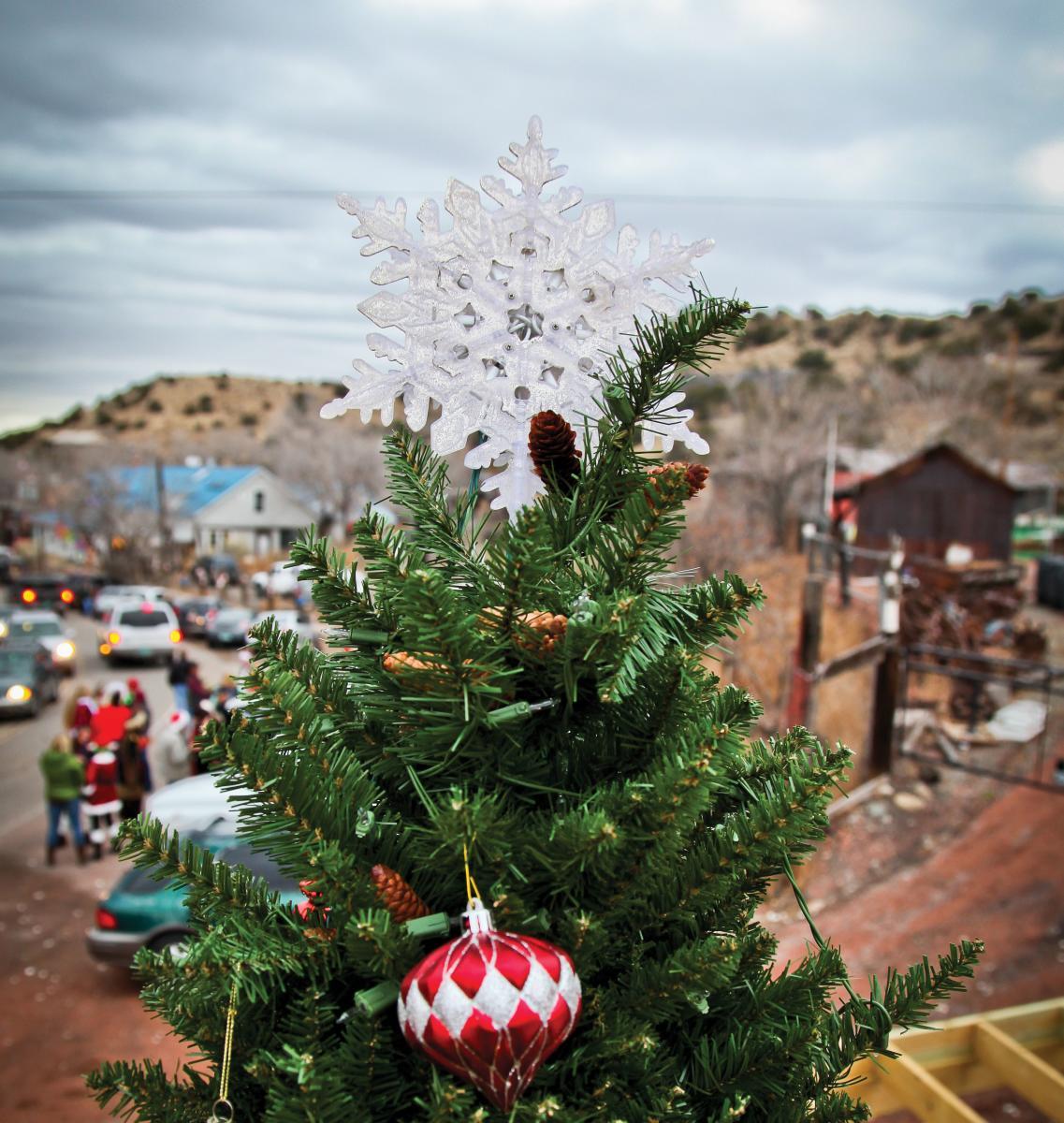 The tree at the Madrid Christmas parade