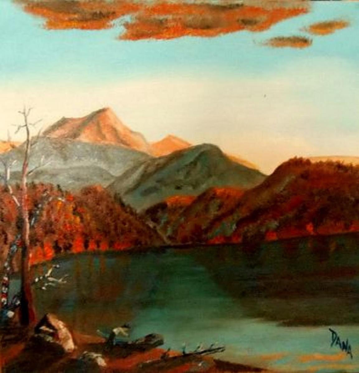 Laurel Highlands Hiking Trail painting