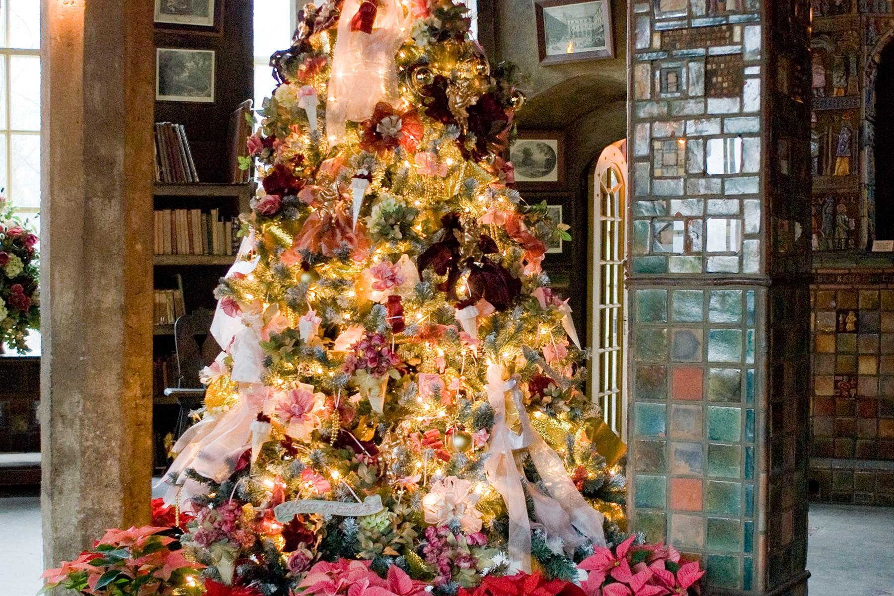 See Fonthill Castle decked out for the holidays during their Holiday Lights Meander or Candlelight Holiday Tours events every December.