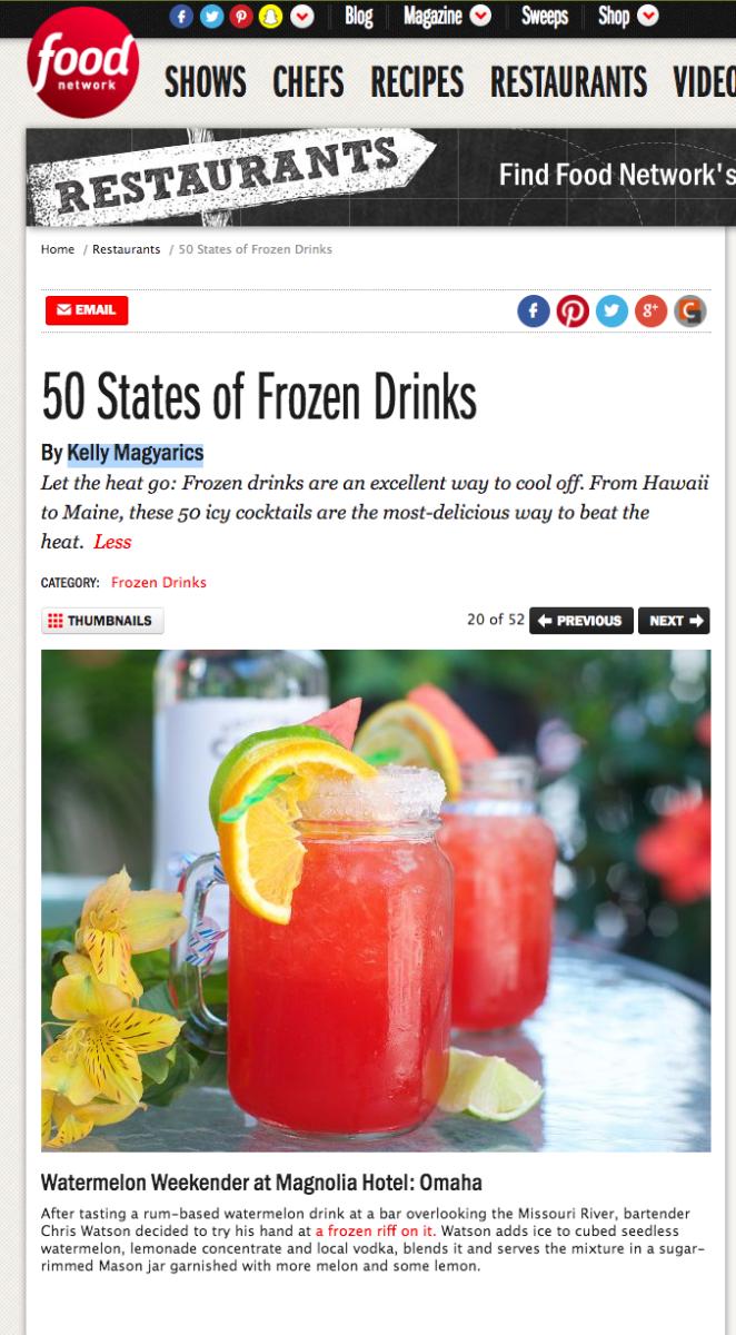 Omaha's Frozen Drink - Food Network