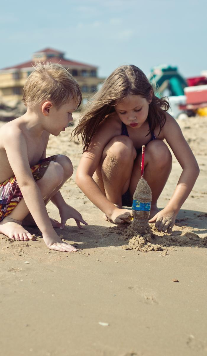 Brazosport Kids on Beach