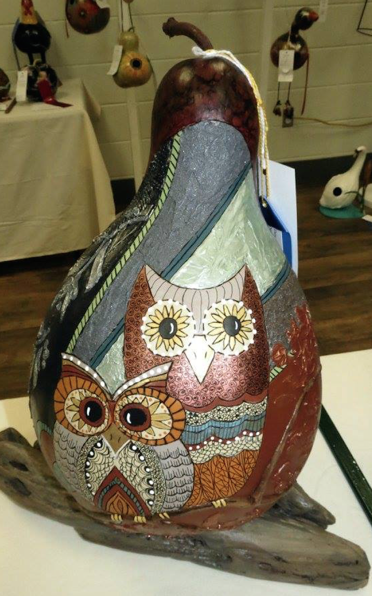 Gourd and wood art fromOrganic Vesselsin Hamilton