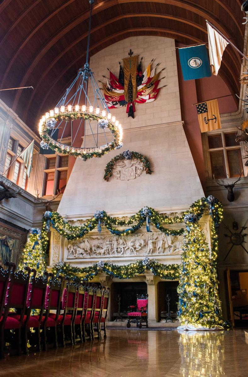 Christmas at Biltmore Banquet Hall Fireplace 2017