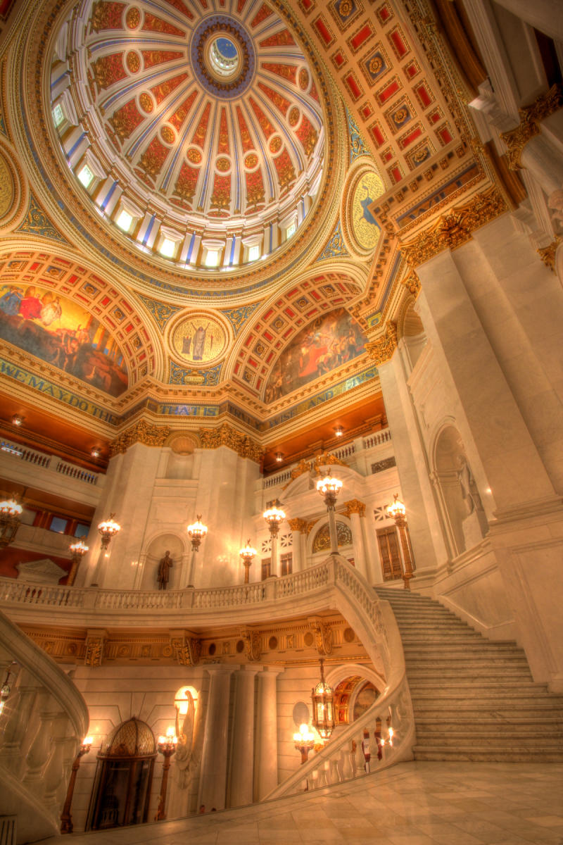 PA Capitol Complex-Harrisburg-Main Rotunda-Interior