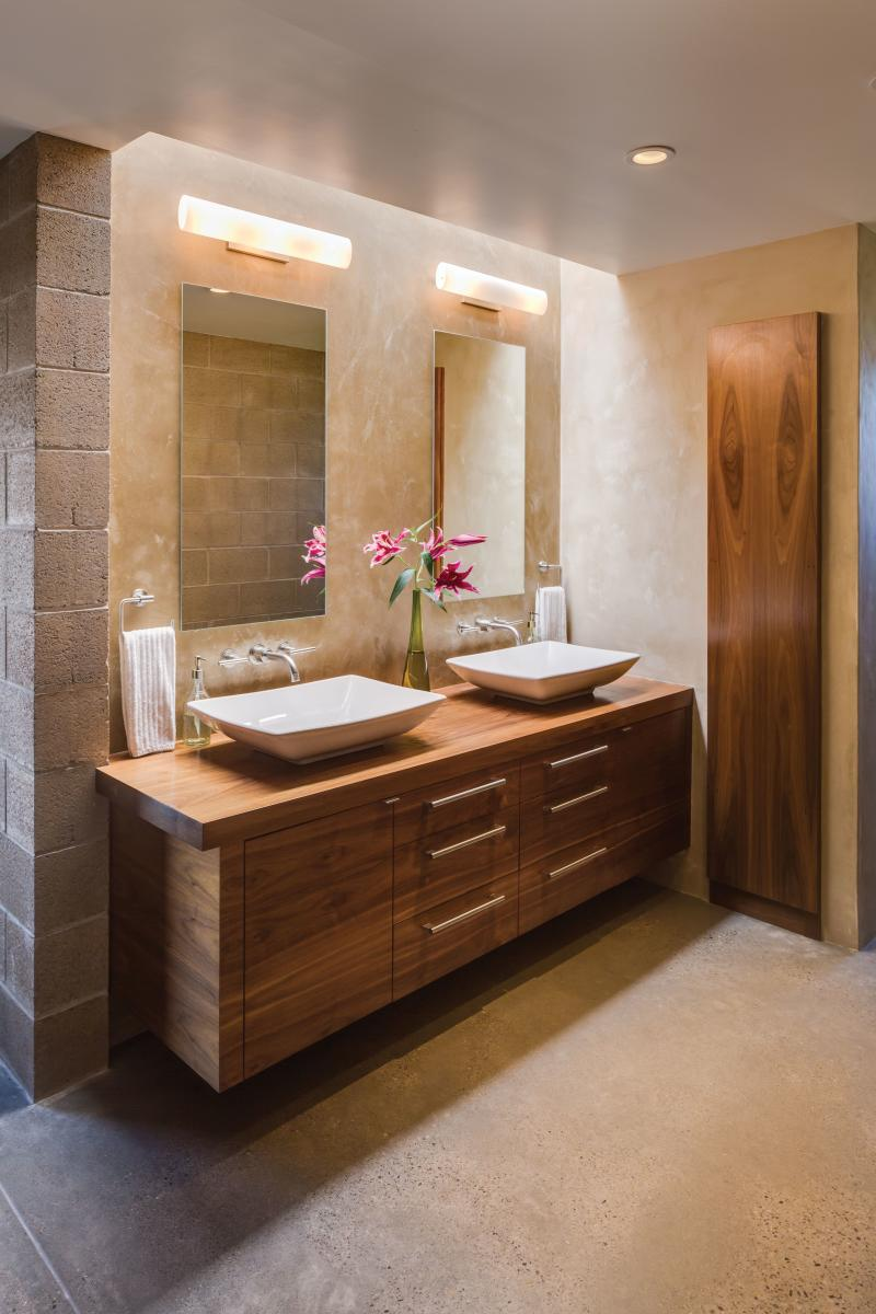 The bathrom of Brian andCarrie Freeman's Corrales home