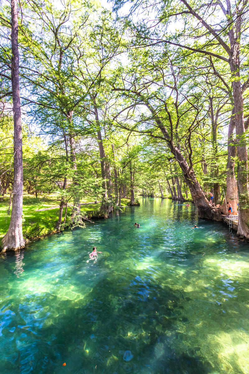 Blue Hole park and swimming hole in Wimberley Texas