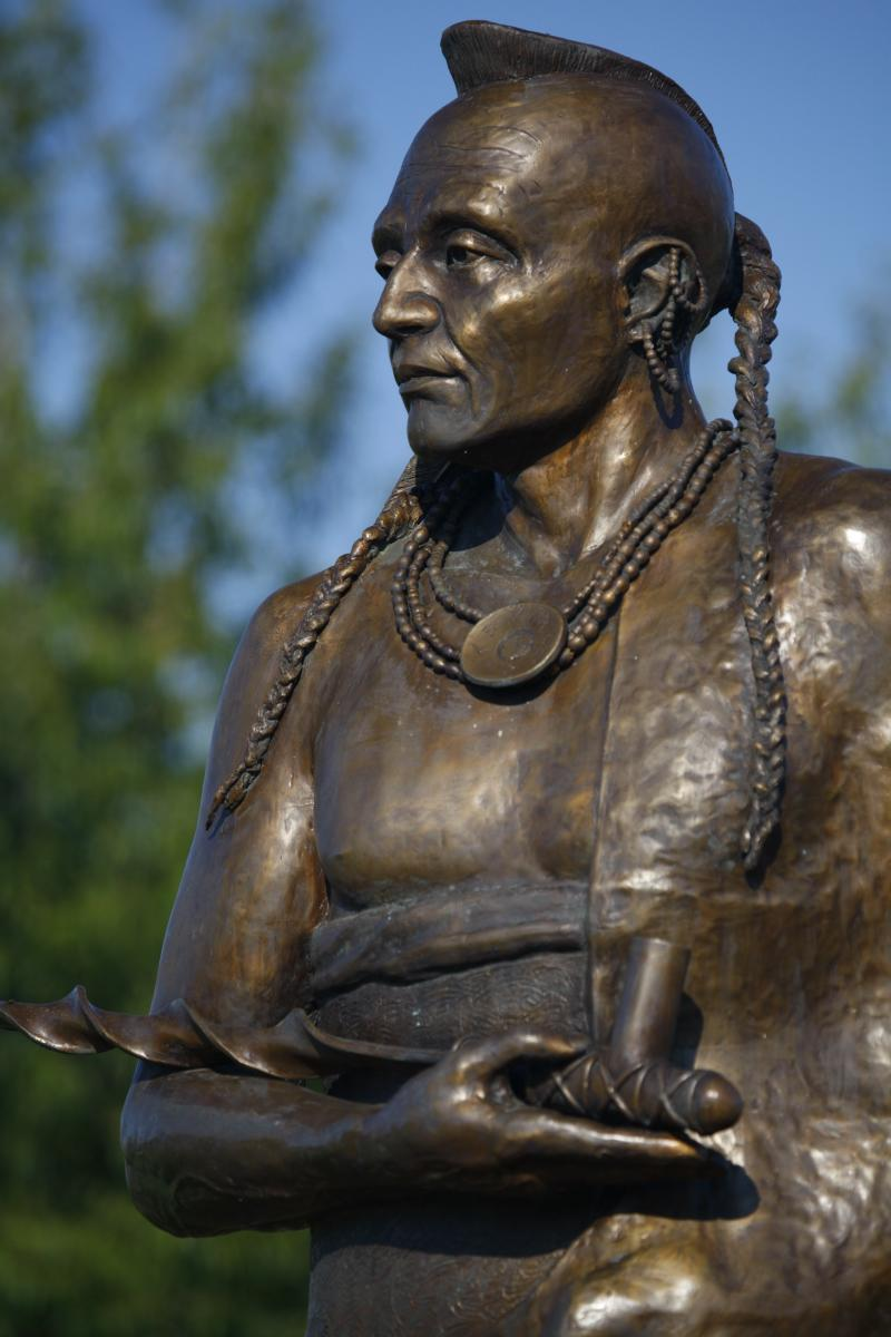 Kaw Indian Statue