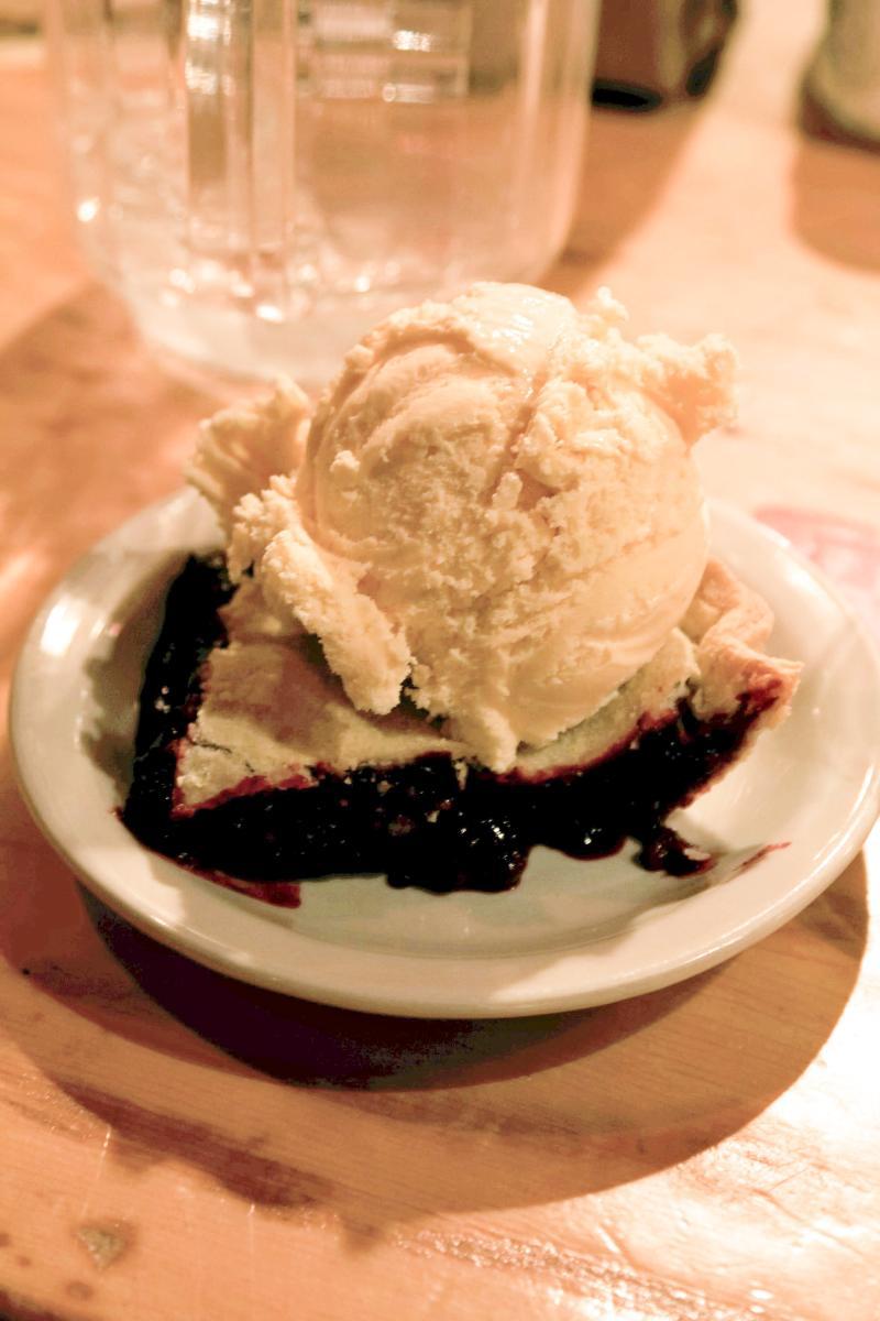 Blackberry pie a la mode at Copper Creek Inn & Restaurant